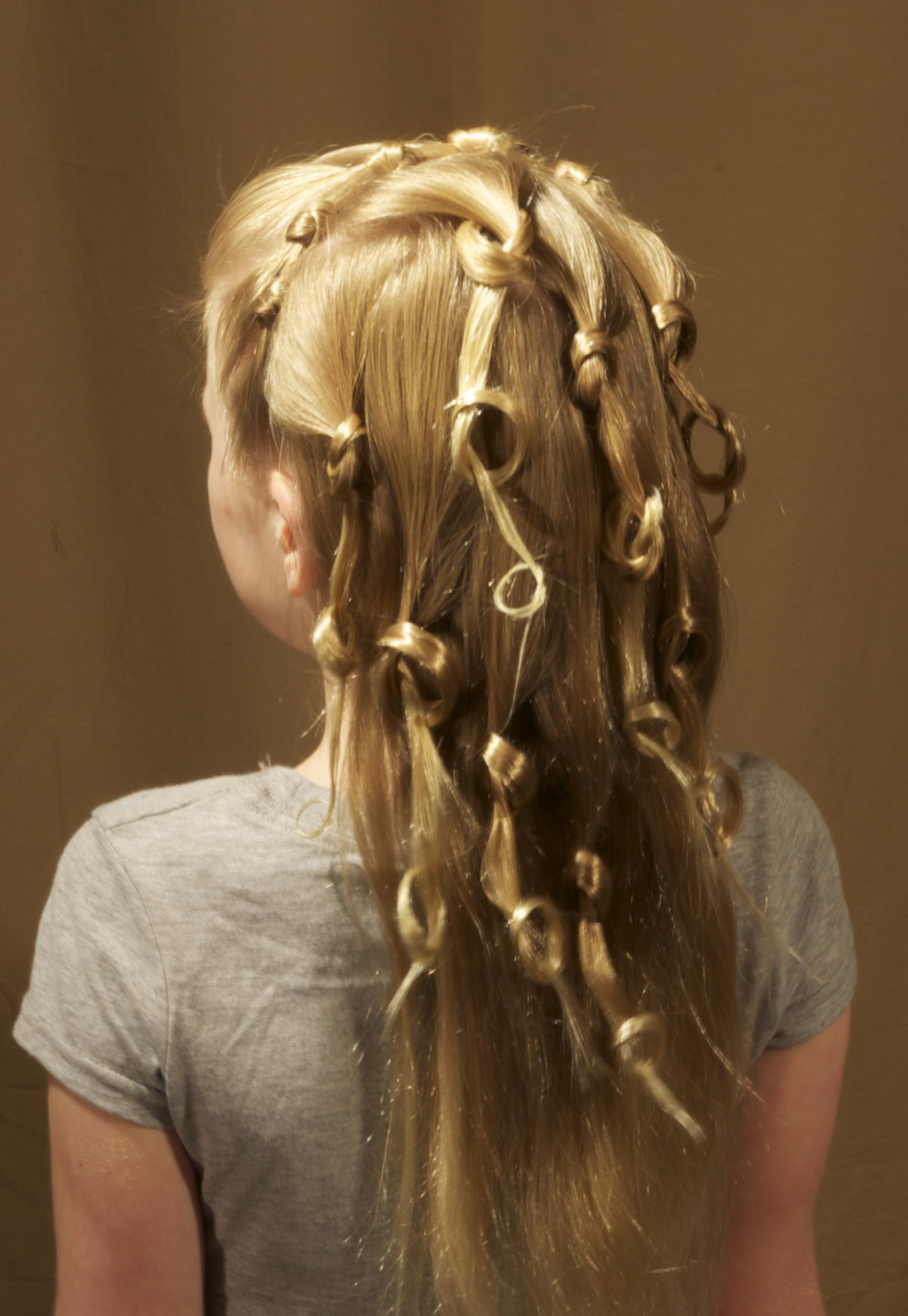1-strand, pretzel, lace, headband, cascade
