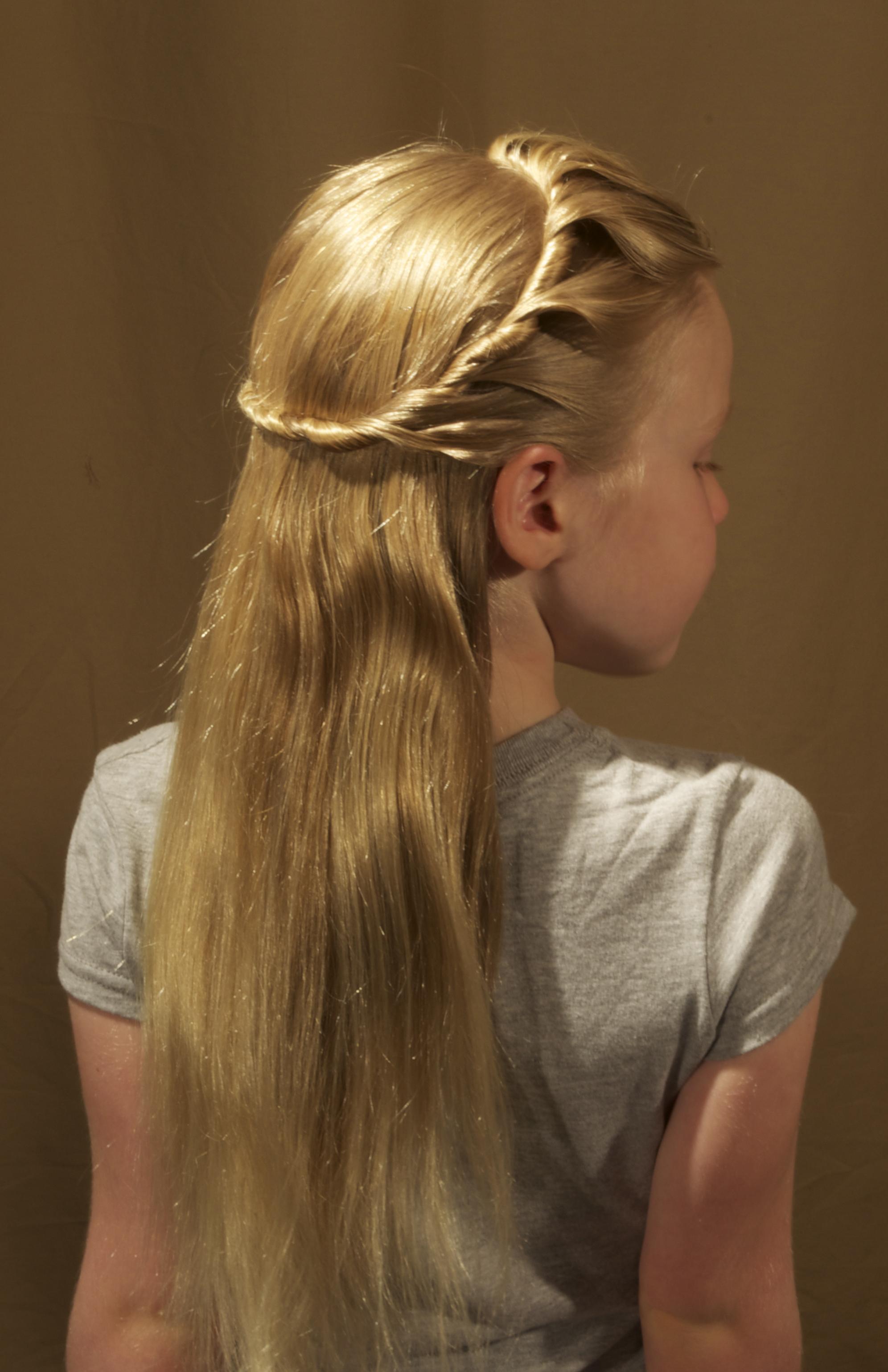 1-strand, twist, lace, headband, cascade