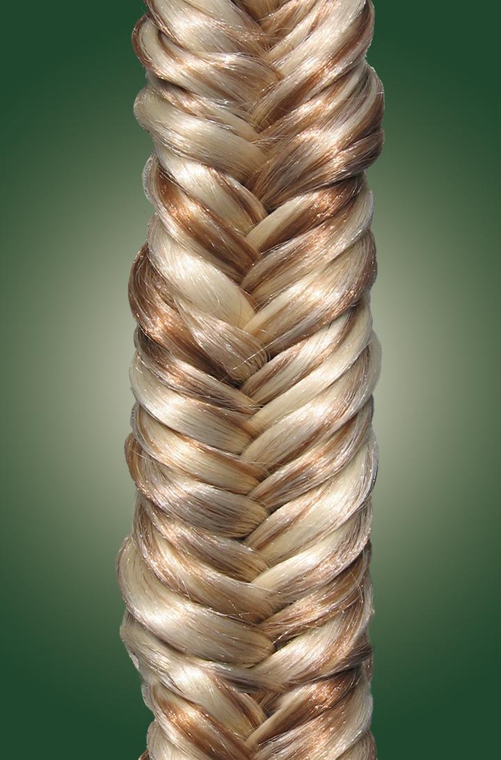 2-strand, herringbone, braid, mini