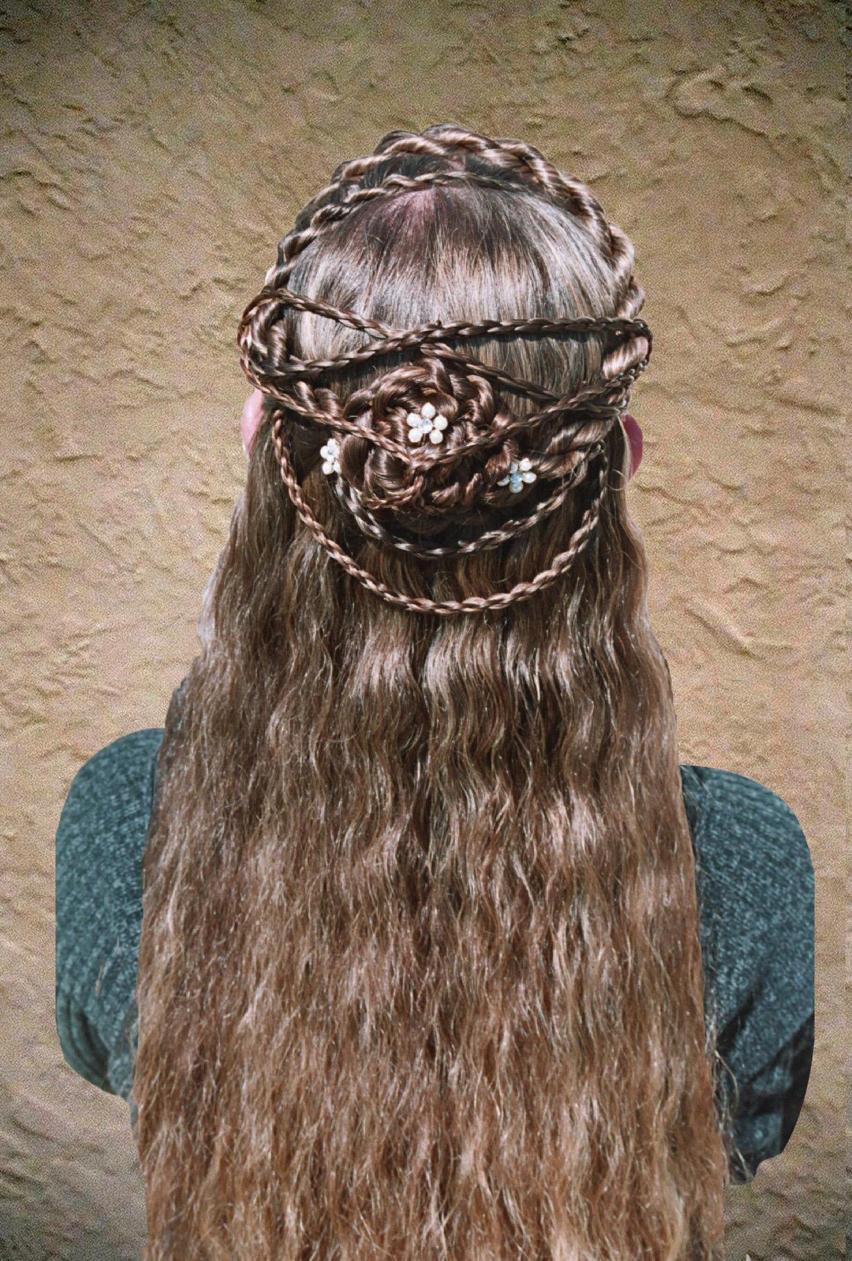 2-strand, rope, lace, fringe, cascade, mini four round