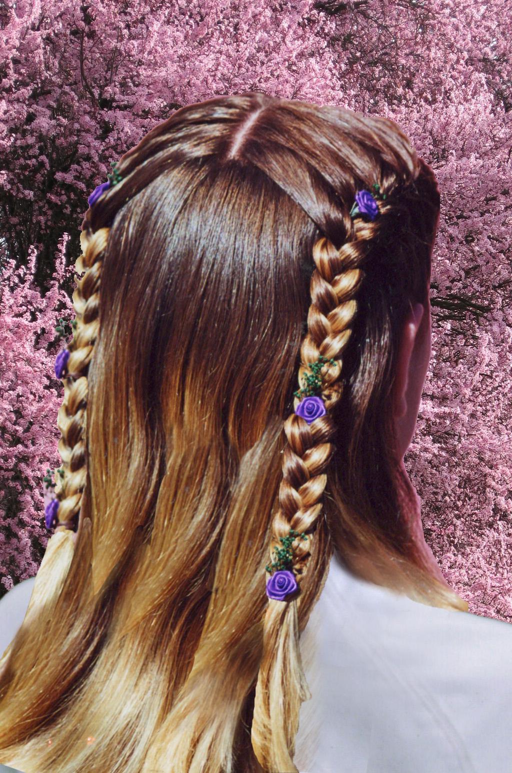 3-strand, french, stitch, double, cascade