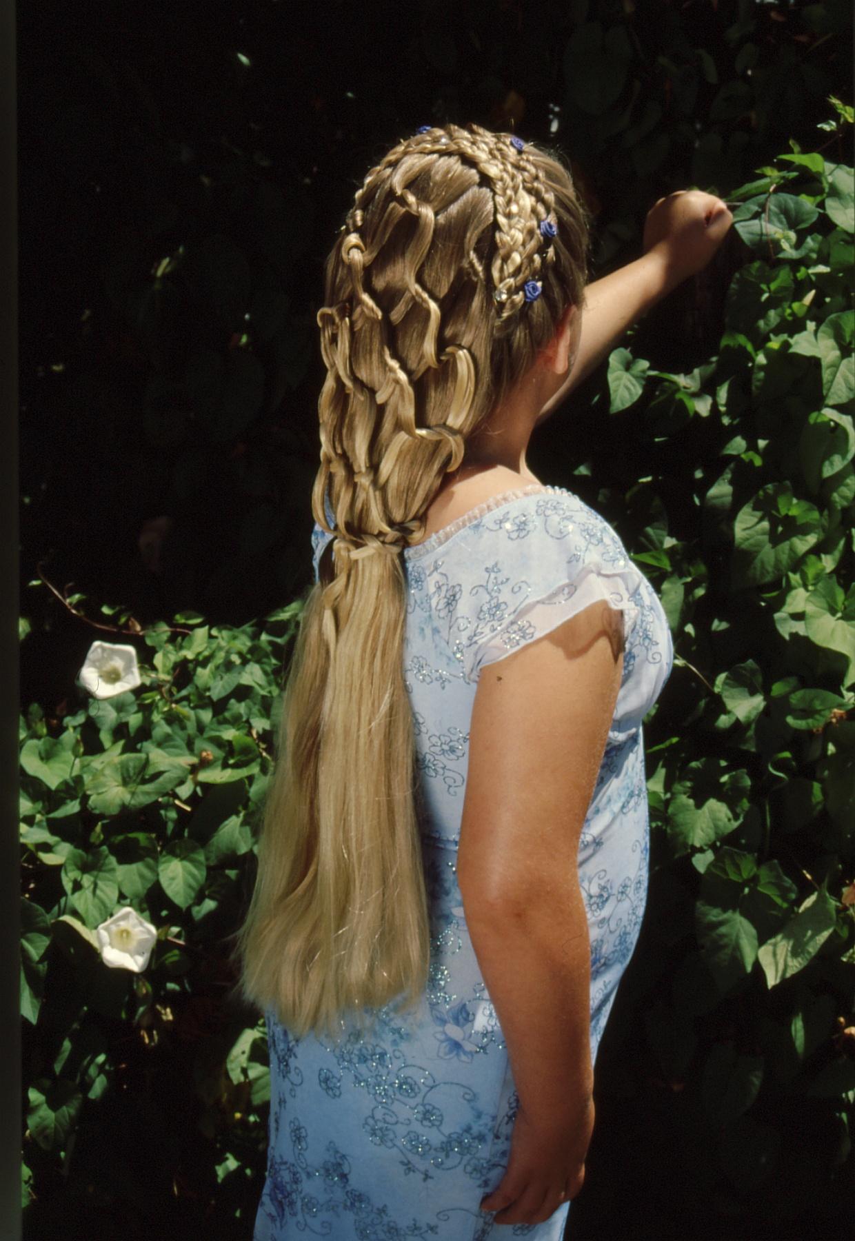 5-strand, dutch, lace, circle, cascade, headdress
