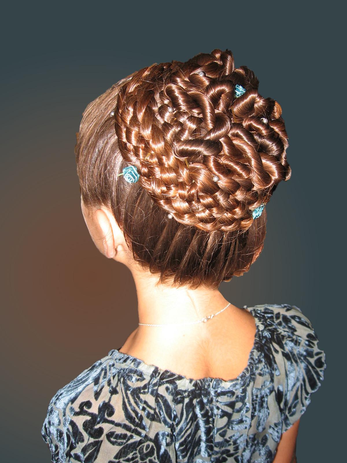 7-strand, dutch, lace, circle, mini rosette