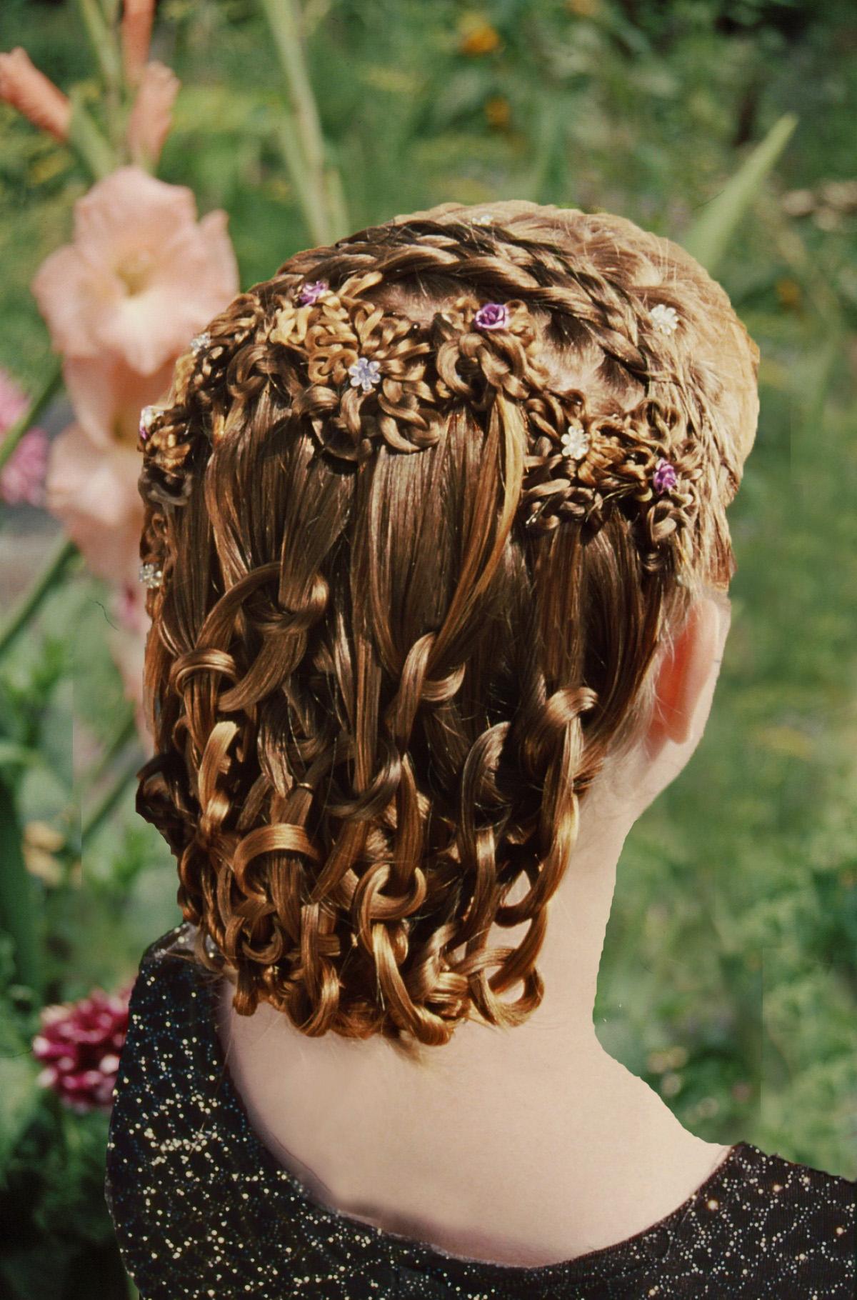7-strand, dutch, lace, headband, cascade, push-up three, mini knot