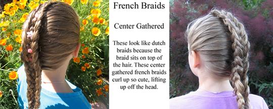 French braids center gathered